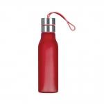 Garrafa de Plástico com Alça de Silicone Personalizada - 600 ml Vermelho
