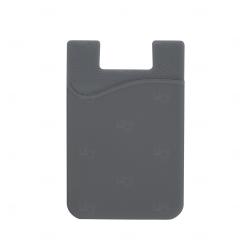 Adesivo Porta Cartão p/ Celular Personalizado Cinza