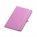 Caderno Tipo Moleskine Personalizado - 21 x 14 cm Rosa
