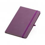 Caderno Tipo Moleskine Personalizado - 21 x 14 cm Roxo