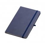 Caderno Tipo Moleskine Personalizado - 21 x 14 cm Azul