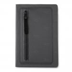 Caderno Com Zíper Personalizado - 21,5 x 14,5 cm Preto