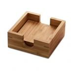 Conjunto De Descansa Copos Em Bambu Personalizado