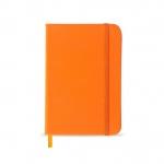 Caderneta tipo Moleskine Personalizado - 17,8 x 12,4 cm Laranja