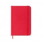 Caderneta tipo Moleskine Personalizado - 17,8 x 12,4 cm Vermelho