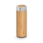 Garrafa Personalizada Térmica de Bambu e Inox - 430ml
