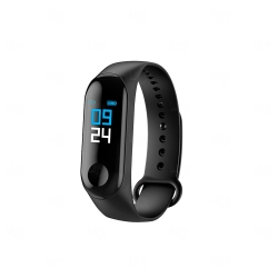 Relógio Smartband Black Pearl M3 Personalizada