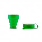 Copo Retrátil de Silicone Personalizado - 240ml Verde