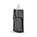 Squeeze Dobrável Personalizado - 420ml Preto