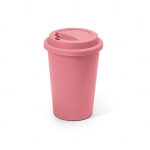 Copo Fibra de Bambu Colorido Personalizado - 450ml Rosa Flamingo