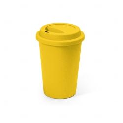 Copo Fibra de Bambu Colorido Personalizado - 450ml Amarelo