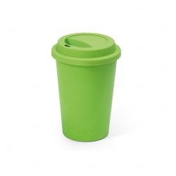 Copo Fibra de Bambu Colorido Personalizado - 450ml Verde Claro