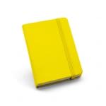 Caderno Tipo Moleskine Couro Ecológico Personalizado - 14 x 9 cm Amarelo