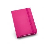 Caderno Tipo Moleskine Couro Ecológico Personalizado - 14 x 9 cm Rosa