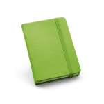 Caderno Tipo Moleskine Couro Ecológico Personalizado - 14 x 9 cm Verde Claro