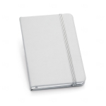 Caderno Tipo Moleskine Couro Ecológico Personalizado - 14 x 9 cm Prata