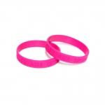 Pulseira Silicone Colorblock Personalizada Rosa Pink