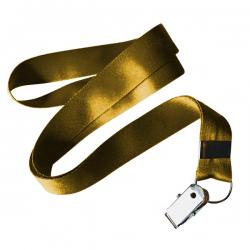 Cordão De Crachá Jacaré Personalizado 1,2 cm Amarelo