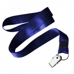 Cordão De Crachá Jacaré Personalizado 1,2 cm Azul
