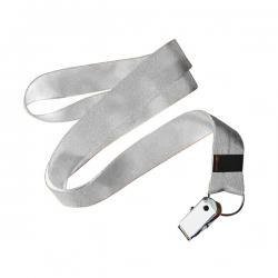 Cordão De Crachá Jacaré Personalizado 1,2 cm Branco