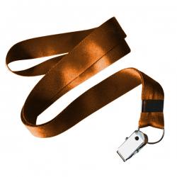 Cordão De Crachá Jacaré Personalizado 1,2 cm Laranja