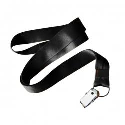 Cordão De Crachá Jacaré Personalizado 1,2 cm Preto