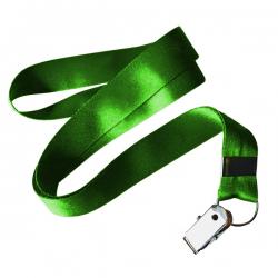 Cordão De Crachá Jacaré Personalizado 1,2 cm Verde