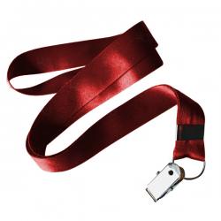 Cordão De Crachá Jacaré Personalizado 1,2 cm Vermelho