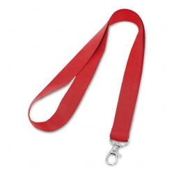 Cordão De Crachá com Presilha Mosquetinho Personalizado - 1,2 cm Vermelho