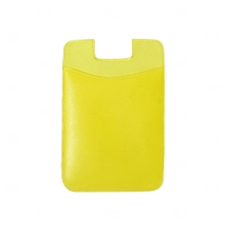 Adesivo Porta Cartão p/ Celular Personalizado Amarelo