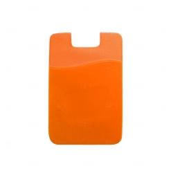 Adesivo Porta Cartão p/ Celular Personalizado Laranja