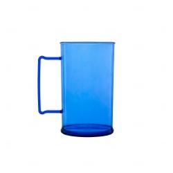 Caneca Personalizada  Acrílica Transparente Color - 500 ml Azul