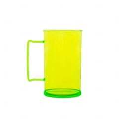 Caneca Personalizada  Acrílica Transparente Color - 500 ml Verde Claro