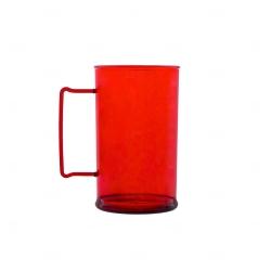 Caneca Personalizada  Acrílica Transparente Color - 500 ml Vermelho