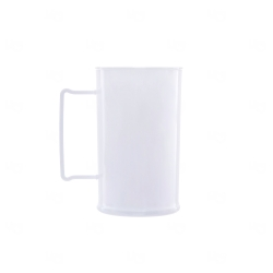 Caneca Personalizada  Acrílica Transparente Color - 500 ml Branco