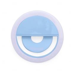 Anel de Iluminação Selfie Ring Recarregável Personalizado Azul Claro