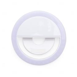 Anel de Iluminação Selfie Ring Recarregável Personalizado Branco