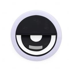 Anel de Iluminação Selfie Ring Recarregável Personalizado Preto
