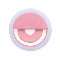 Anel de Iluminação Selfie Ring Recarregável Personalizado Rosa