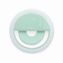 Anel de Iluminação Selfie Ring Recarregável Personalizado Verde água