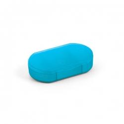 Porta Comprimidos Personalizado Plástico Azul Claro