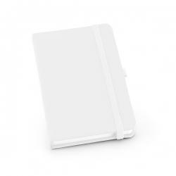 Caderno tipo Moleskine Personalizado - 21 x 14 cm Branco