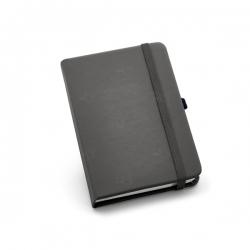 Caderno tipo Moleskine Personalizado - 21 x 14 cm Cinza