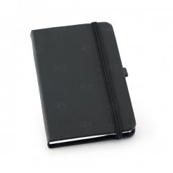 Caderno tipo Moleskine Personalizado - 21 x 14 cm Preto