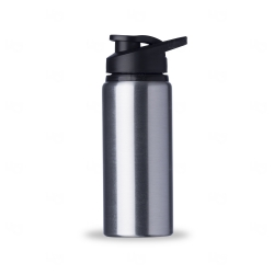 Squeeze Personalizada  Alumínio Brilhante - 600 ml Inox