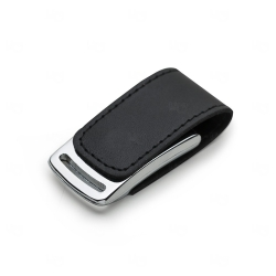 Pen Drive Couro Sintético Personalizado - 4 GB