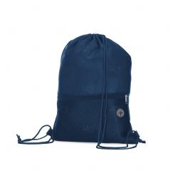 Sacochila em Poliéster Personalizada Azul Marinho