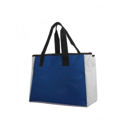 Sacola Térmica De Poliéster Personalizada Azul