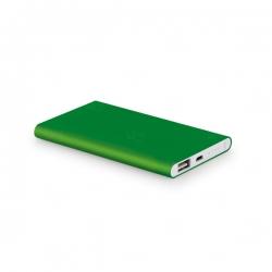 Power Bank Portátil Slim Color Personalizado - 4.400 mAh Verde
