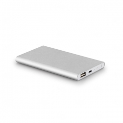 Power Bank Portátil Slim Color Personalizado - 4.400 mAh Prata